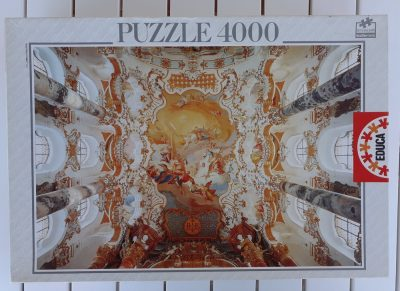 Image of the puzzle 4000, Educa, The Wieskirche, Sealed Bag, Picture of the box