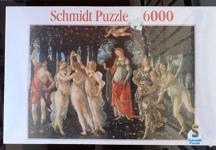 Image of the puzzle spring_6000, Schmidt, Allegory of Spring, Sandro Botticelli, Factory Sealed, Picture of the box
