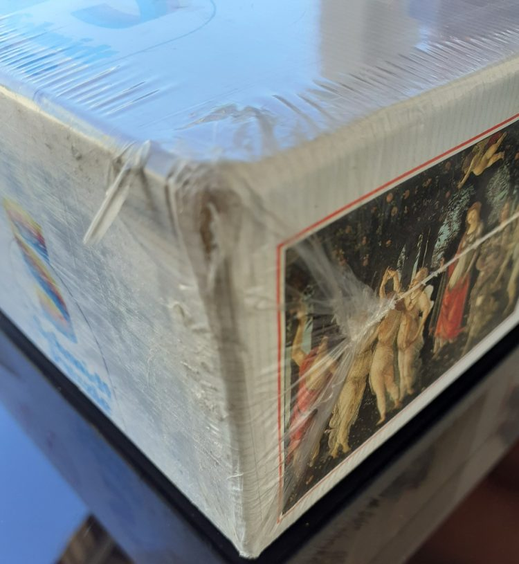 Image of the puzzle spring_6000, Schmidt, Allegory of Spring, Sandro Botticelli, Factory Sealed, Picture of the corner