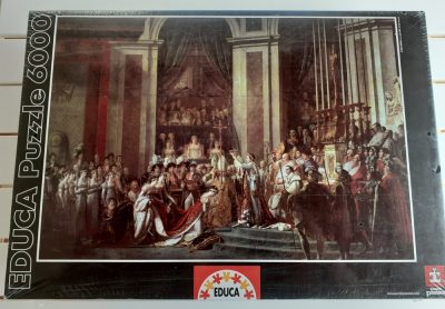 Image of the puzzle 6000, Educa, The Coronation of Napoleon, by Jacques-Louis David, Factory Sealed, Picture of the box