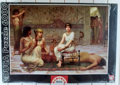 Image of the puzzle 6000, Educa, Love's Labour Lost, Edwin Longsden Long, Factory Sealed, Picture of the box