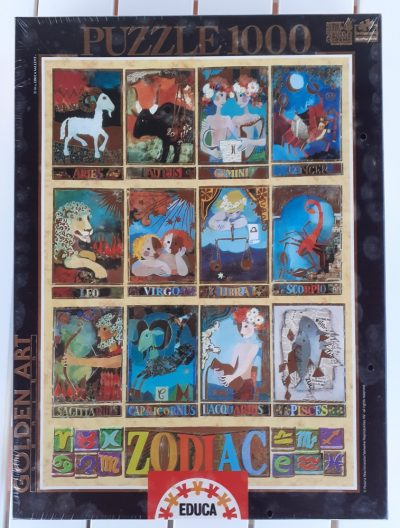 Image of the puzzle 1000, Educa, Zodiac, Rosina Wachtmeister, Factory Sealed