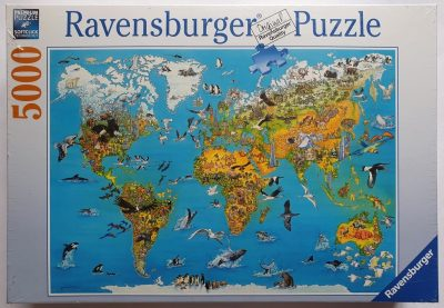 Image of the puzzle 5000, Ravensburger, Fascination Earth, Factory Sealed, Picture of the box