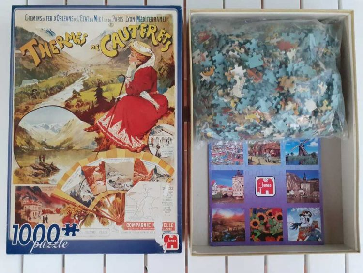 Image of the puzzle 1000, Jumbo, Thermes de Cauterets, Sealed Bag, Picture of the bag