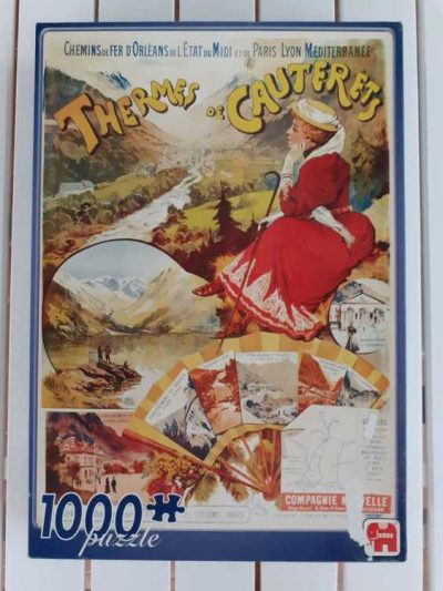 Image of the puzzle 1000, Jumbo, Thermes de Cauterets, Sealed Bag, Picture of the box
