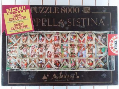 Image of the puzzle 8000, Educa, Sistine Chapel, by Michelangelo, Factory Sealed