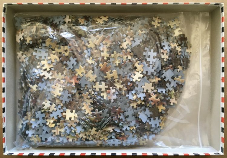 Image of the puzzle 1500, Educa, Bottoms Up!, Martin Spencer Coleman, Complete, Picture of the bag