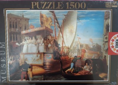 Image of the puzzle 1500, Educa, The Brides of Venice Being Taken to the Wedding, John Rogers Herbert, Factory Sealed