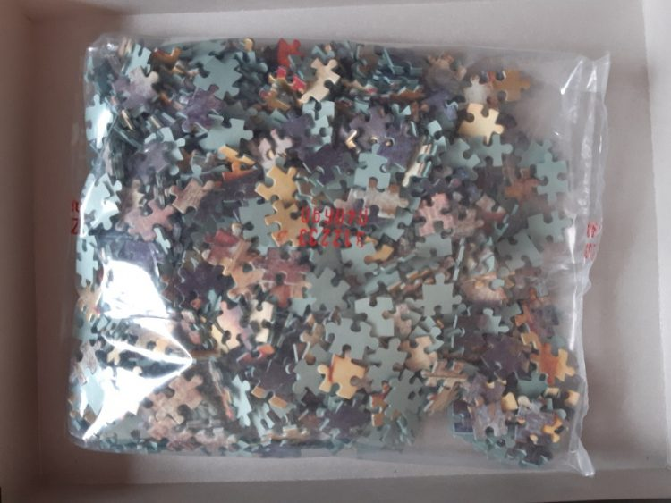 Image of the puzzle 1000, Clementoni, Sleeping Fortune, Richard Franklin, Sealed Bag, Picture of the bag