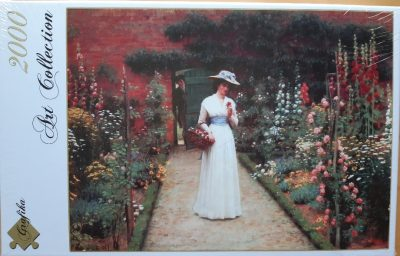 Image of the puzzle 2000, Grafika, Lady in a Garden, Edmund Blair Leighton, Factory Sealed