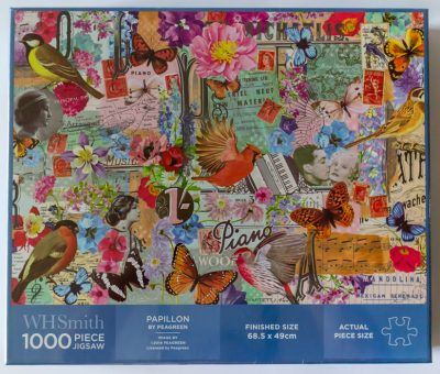 Image of the puzzle 1000, WHSmith, Papillon, Peagreen Studio, Factory Sealed