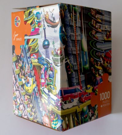 Image of the puzzle 1000, Heye, Space, by Igor Kravarik, Sealed Bag, Picture of the box