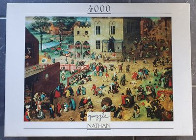 Image of the puzzle 4000, Nathan, Childrens Games, by Pieter Bruegel the Elder, Sealed Bag, Picture of the box