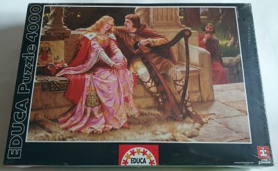 Image of the puzzle 4000, Educa, The End of the Song, Edmund Blair Leighton, Factory Sealed, Picture of the box