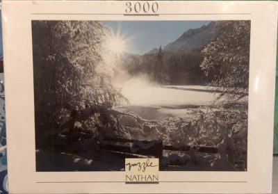 Image of the puzzle 3000, Nathan, Sun on Snow, Factory Sealed