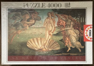 Image of the puzzle 4000, Educa, The Birth of Venus, Sandro Botticelli, Factory Sealed