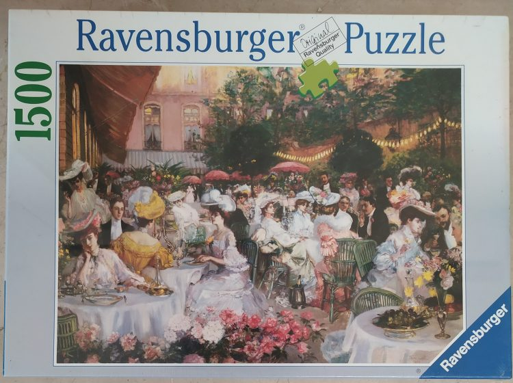 Image of the puzzle 1500, Ravensburger, Ritz Hotel, Paris 1904, Jeanniot, Factory Sealed