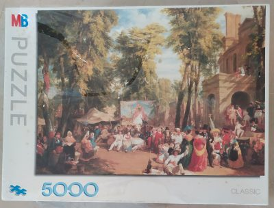 Image of the puzzle 5000, MB, Fair in the Champs-Elysees, William Parrott, Factory Sealed, Picture of the box
