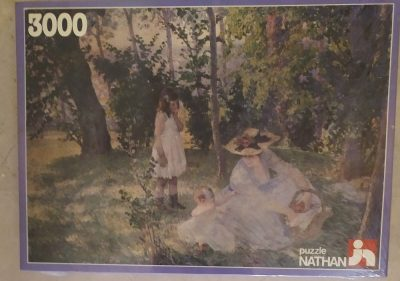 Image of the puzzle 3000, Nathan, Snack under the Trees, Henri Lebasque, Factory Sealed, Picture of the box
