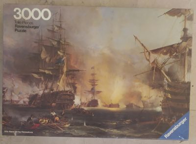 Image of the puzzle 3000, Ravensburger, Bombardment of Algiers, by George Chambers, Factory Sealed, Picture of the box