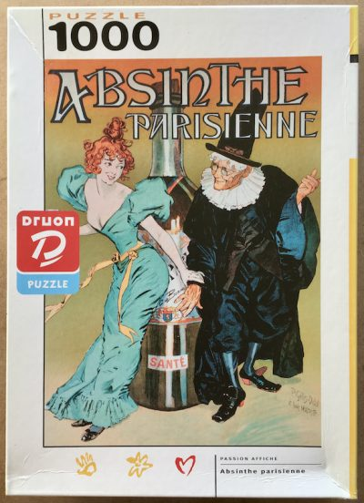 Image of the puzzle 1000, Nathan, Absinthe Parisienne, Complete, Picture of the box