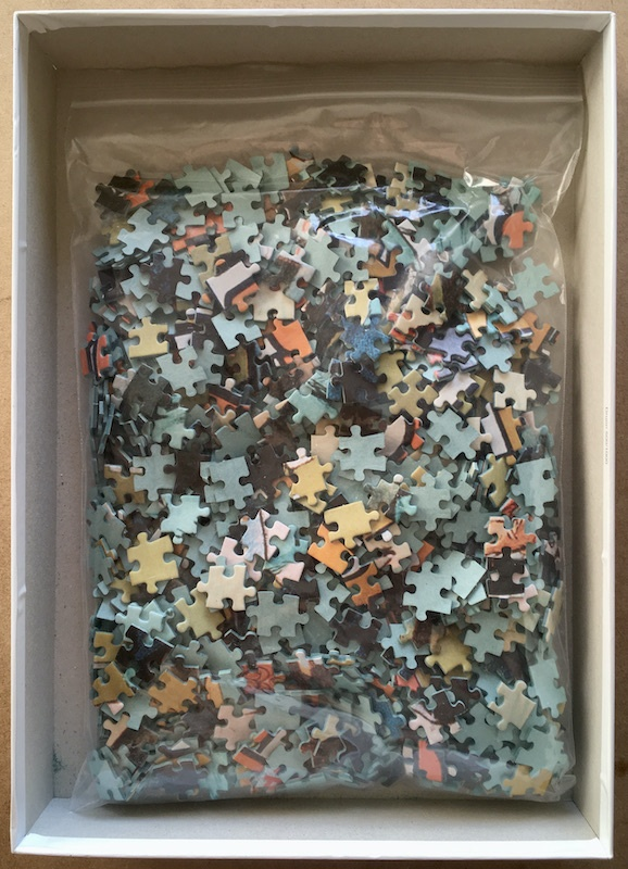Image of the puzzle 1000, Nathan, Absinthe Parisienne, Complete, Picture of the bag
