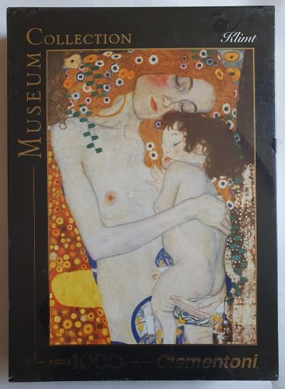 Image of the puzzle 1000, Clementoni, The Three Ages of Woman, by Gustav Klimt, Factory Sealed, Picture of the box