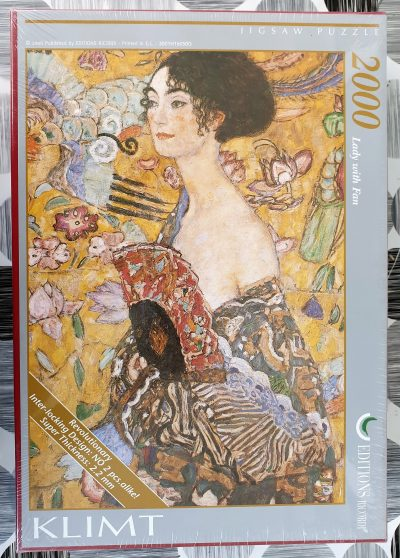Image of the puzzle 2000, Ricordi, Lady with Fan, Gustav Klimt, Factory Sealed