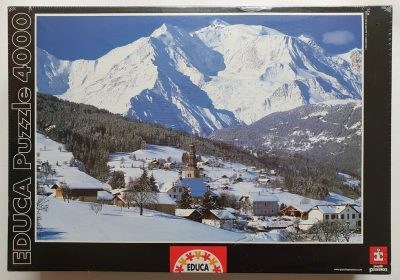 Image of the puzzle 4000, Educa, Mont Blanc, France, Factory Sealed