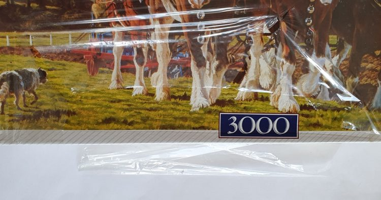 Image of the puzzle 3000, Waddingtons, Ploughing, by Peter Moranth, Factory Sealed, Detail of the box