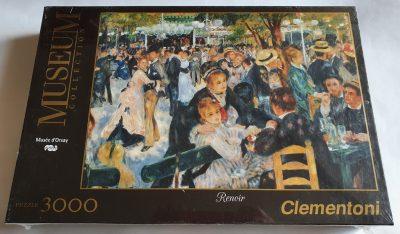 Image of the puzzle 3000, Clementoni, Bal du Moulin de la Galette, Renoir, Factory Sealed, Picture of the box