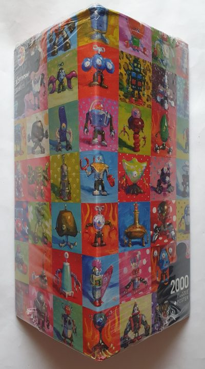 Image of the puzzle 2000, Heye, Robots, by Henry Stinson, Factory Sealed, Picture of the box