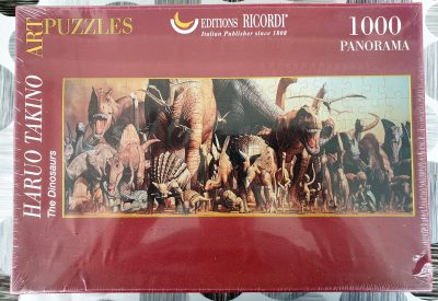 Image of the puzzle 1000, Ricordi, The Dinosaurs, by Haruo Takino, Factory Sealed