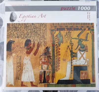 Image of the puzzle 1000, Art Stones, The Book of the Dead. Picture of the box.