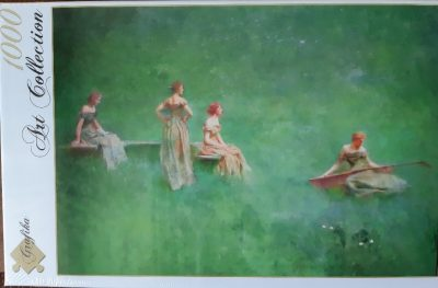 Image of the puzzle 1000, Grafika, The Lute, Thomas Wilmer Dewing, Factory Sealed