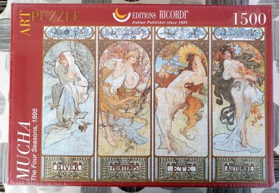 Image of the puzzle 1500, Ricordi, The Four Seasons, Alphonse Mucha, Factory Sealed