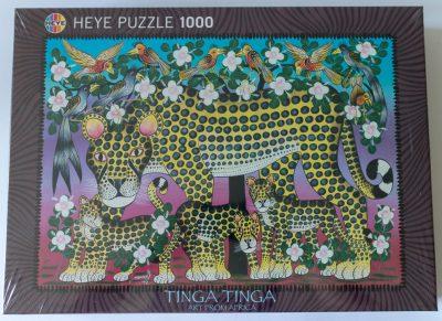 Image of the puzzle 1000, Heye, Wildcat Family, Abbasy Mbuka, Factory Sealed