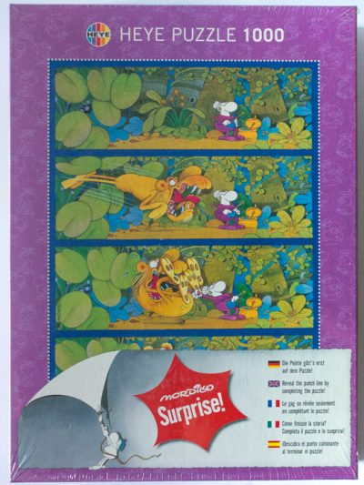 Image of the puzzle 1000, Heye, Surprise! Grandma, Guillermo Mordillo, Factory Sealed