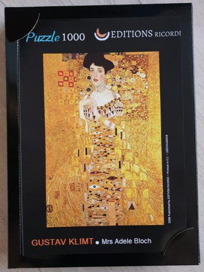 Image of the puzzle 1000, Ricordi, Mrs. Adele Bloch, Gustav Klimt, Sealed Bag