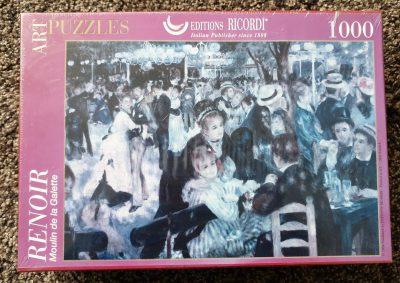 Image of the puzzle 1000, Ricordi, Moulin de la Galette, by Renoir, Factory Sealed
