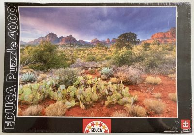 Image of the puzzle 4000, Educa, Red Rock Dusk, Arizona, USA, Factory Sealed