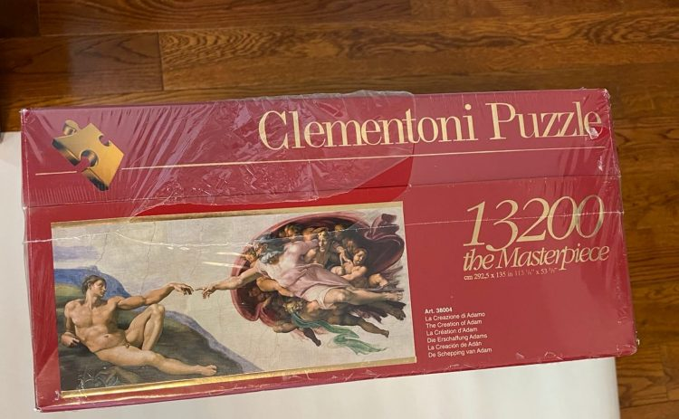 Image of the puzzle 13200, Clementoni, The Creation of Adam, Michelangelo, Factory Sealed, Picture of the box