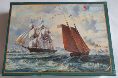 Image of the puzzle 3000, MB, The Golden West, by Roy Cross. Picture of the box.