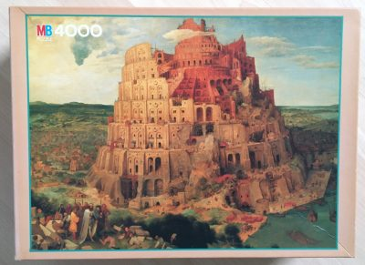 Image of the puzzle 4000, MB, Tower of Babel, Pieter Bruegel the Elder, Sealed Bag, Picture of the box