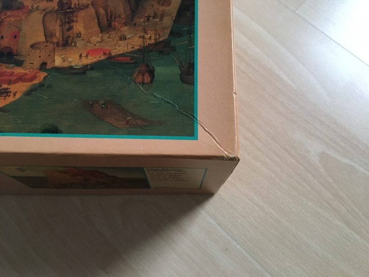 Image of the puzzle 4000, MB, Tower of Babel, Pieter Bruegel the Elder, Sealed Bag, Picture of corner