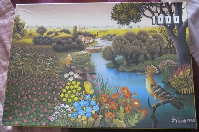Image of the puzzle 1000, Wild Horse, Hoopoe in Summertime, Ivan Stefanek, Complete, Picture of the box