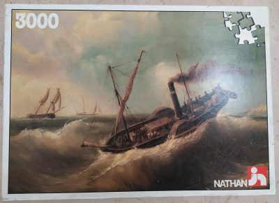 Image of the puzzle 3000, Nathan, Storm, Ferdinand Perrot, Sealed Bag, Picture of the box
