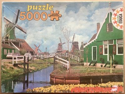Image of the puzzle 5000, Educa, Surroundings of Amsterdam, Holland, Sealed Bag, Picture of the box