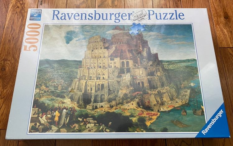 Image of the puzzle 5000, Ravensburger, The Tower of Babel, Bruegel, Factory Sealed