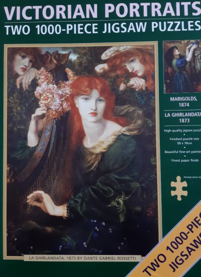 Image of the puzzle 2000, Peony Press, Victorian Portraits, by Dante Gabriel Rossetti, Complete, Picture of the box